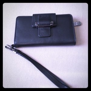 Kooba leather wristlet wallet